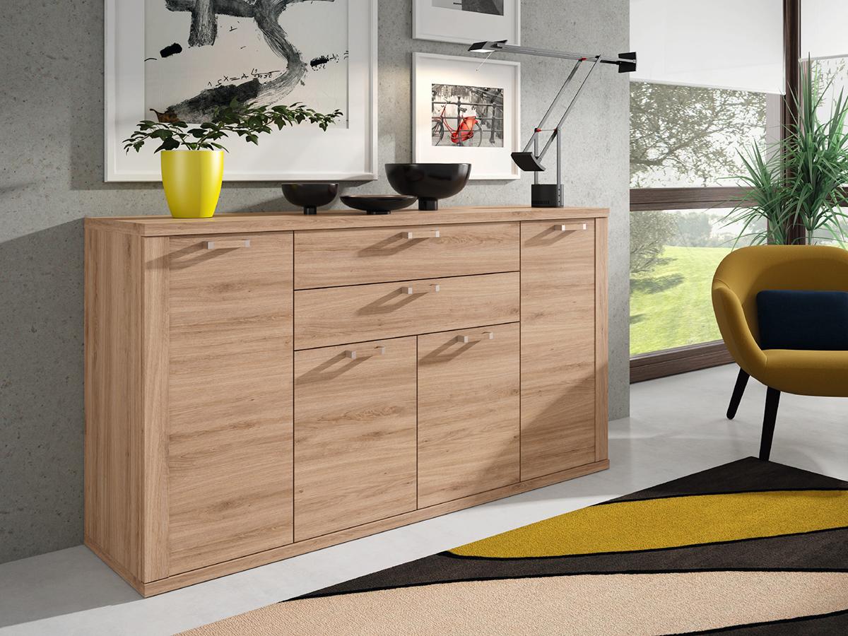 Mueble salon aparador comedor madera melamina moderno for Mueble aparador para comedor