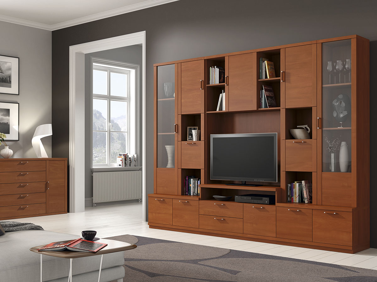 Mueble Salon Tv Comedor Aparador Libreria Madera Melamina Moderno  -> Muebles Para Tv Modernos 2017