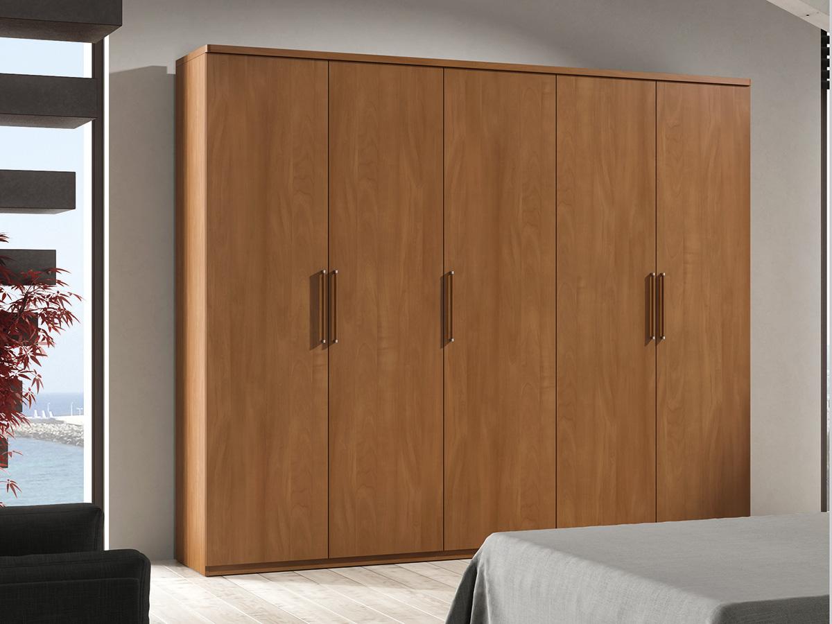 mueble-dormitorio-armario-madera-melamina-moderno-economico-cerezo ...