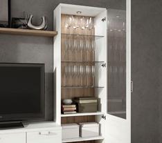 vitrina con puerta cristal muebles ramis apartado calidad