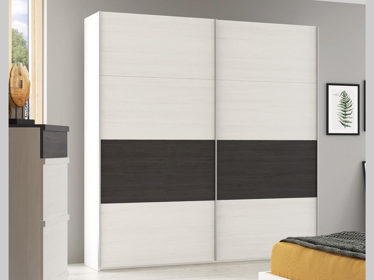 Mueble dormitorio armario madera melamina moderno - Armario dormitorio blanco ...