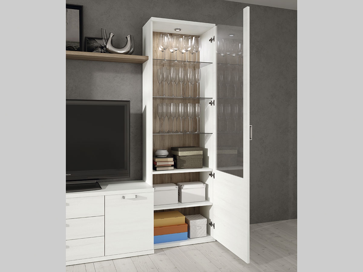 mueble-salon-comedor-madera-melamina-moderno-economico-blanco-roble ...