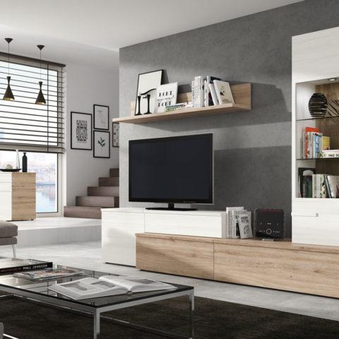 Salones de diseño actual y funcional fabricados por muebles ramis