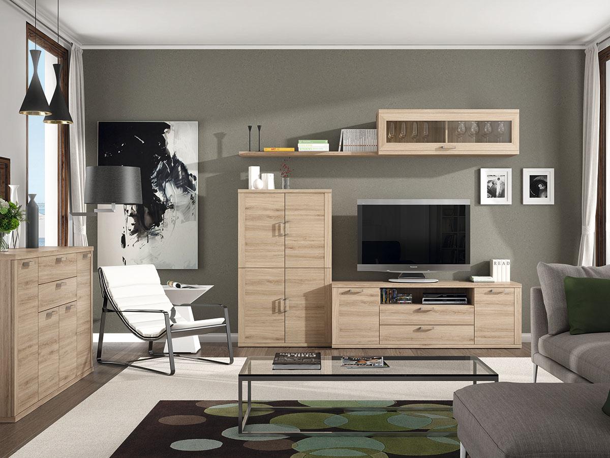 mueble-salon-tv-comedor-aparador-madera-melamina-moderno-economico ...