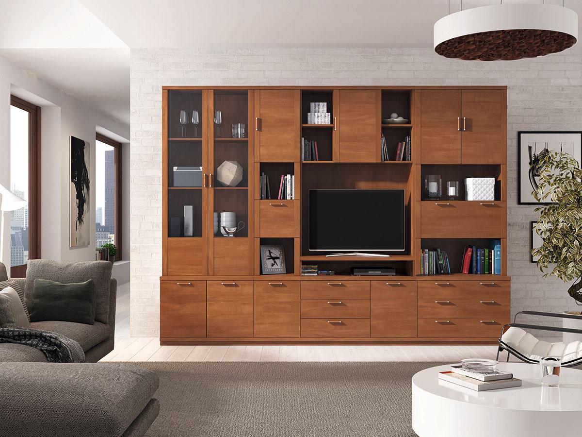 mueble-salon-tv-comedor-libreria-madera-melamina-moderno-economico ...