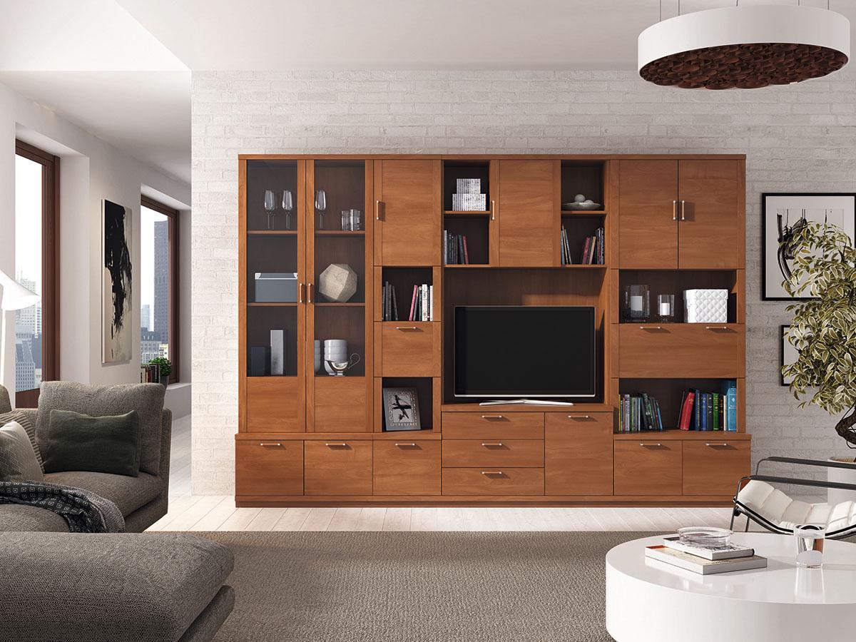 mueble-salon-tv-comedor-libreria-madera-melamina-moderno ...