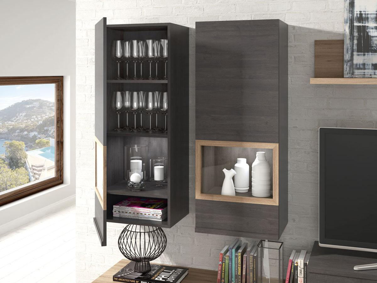 mueble-salon-tv-comedor-madera-melamina-moderno-economico-azabache ...