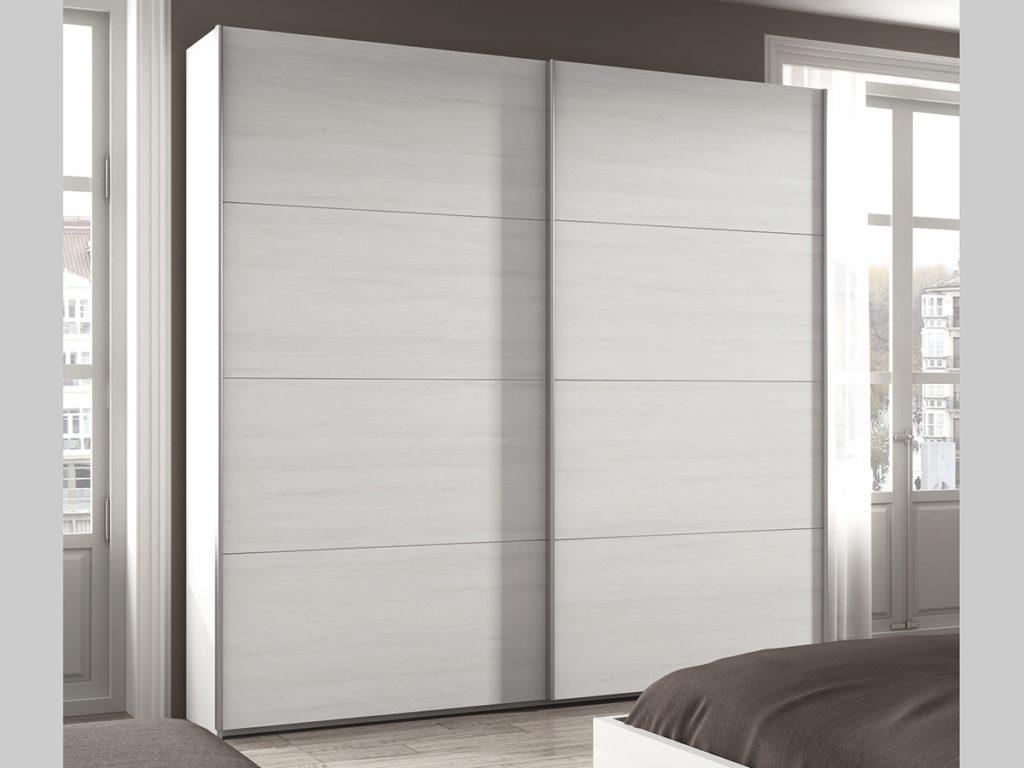 Armario de madera exterior cool armario en lacado blanco y tirador en roble with armario de - Armarios exterior madera ...