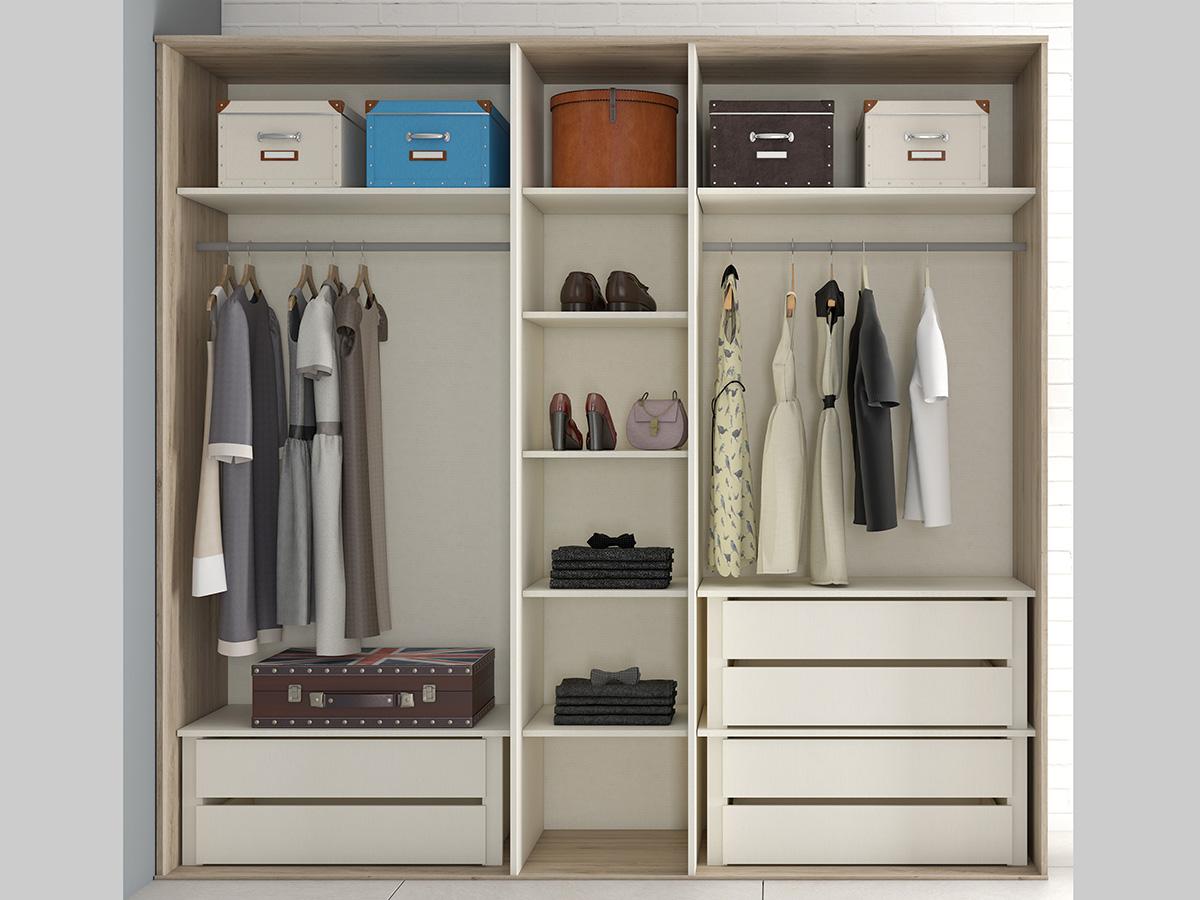Mueble dormitorio armario madera melamina moderno economico roble muebles ramis armario por - Mueble armario ...